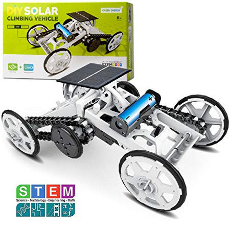 Sillbird STEM 4WD Car DIY Climbing Vehicle Kit Electric Mechanical / Solar Power Science Building Toys Circuits Engineering Gift Toys Car for Kids and Teens. - image 1 of 1