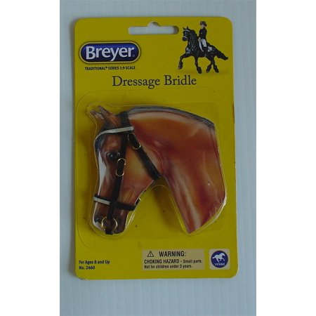 Breyer Horses Traditional Size Dressage Bridle Black Leather #2460