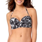 Collections By Women's Tropical Sketch Twist Bandeau Swimsuit Top
