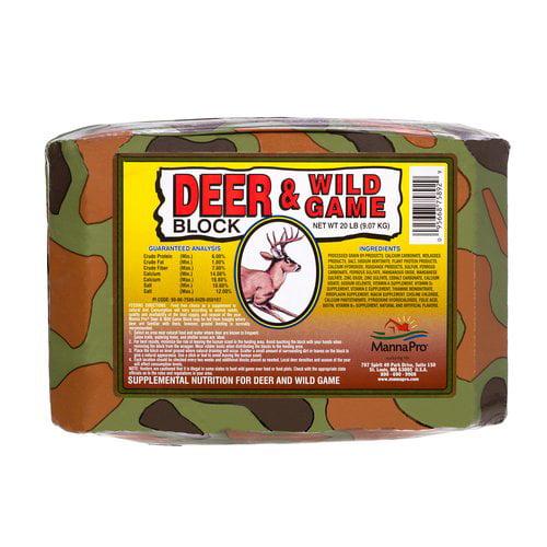 Manna Pro 0075890420 Deer & Wild Game Block, 20-Lbs.