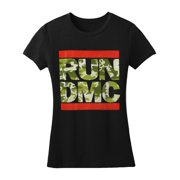 Run DMC  Camo Girls Jr Black