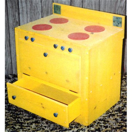 THE PUZZLE-MAN TOYS W-2100 Wooden Play Furniture - Kitchen Stove