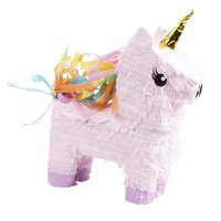 Blue Panda Small Unicorn Pinata, Kids Birthday Party Supplies, 13.4 x 15.5 x 4.6 inches
