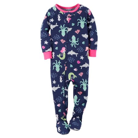 6e8664909 Carter s - Carters Baby Girls 1-Piece Snug Fit Cotton PJs Mermaid ...