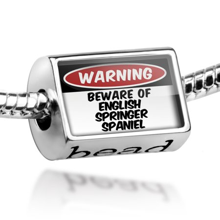 Bead Beware of the English Springer Spaniel Dog from England Charm Fits All European -