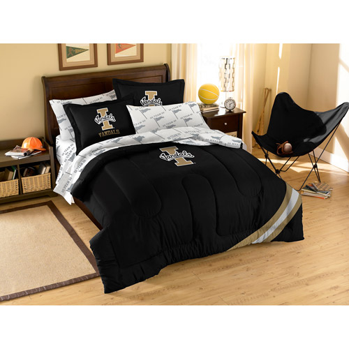 NCAA Applique Bedding Comforter Set with Sheets, University of Idaho