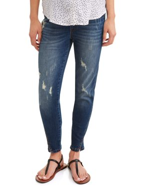 279c94bc5e367 Product Image Liz Lange Maternity Over Belly Skinny Jeans with Slit Hem
