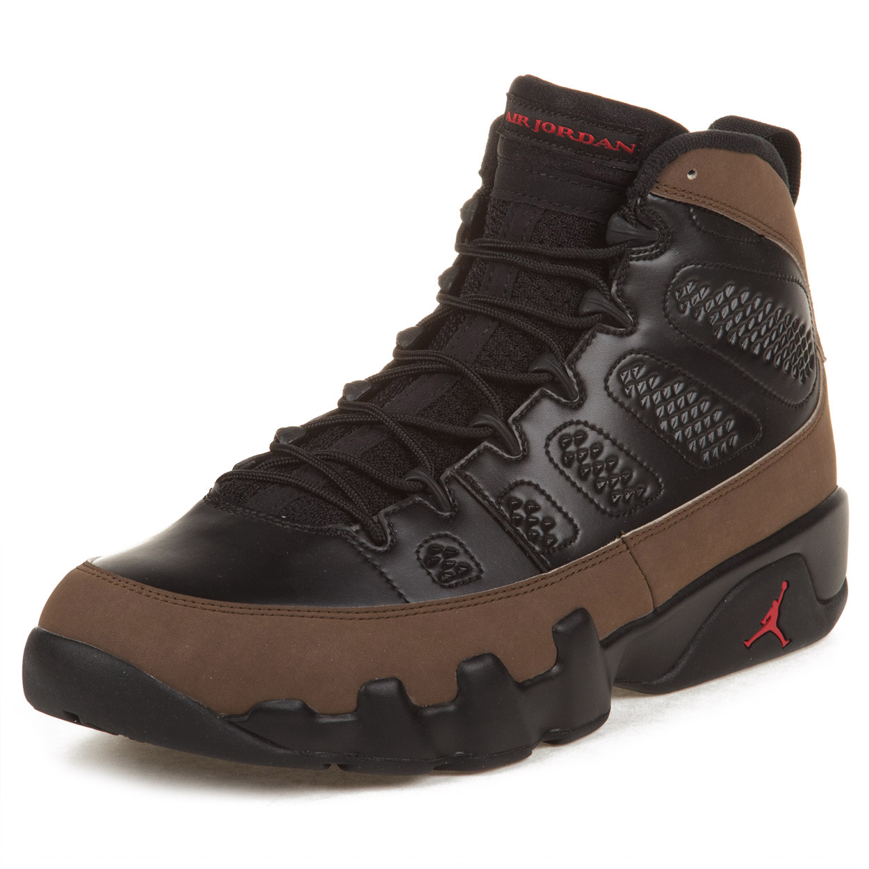 "Nike Mens Air Jordan 9 Retro ""Olive"" Black/Varsity Red 302370-020"