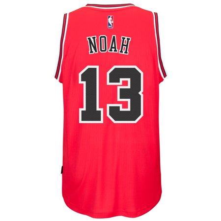 Joakim Noah Chicago Bulls Adidas Road Swingman Jersey (Red) by
