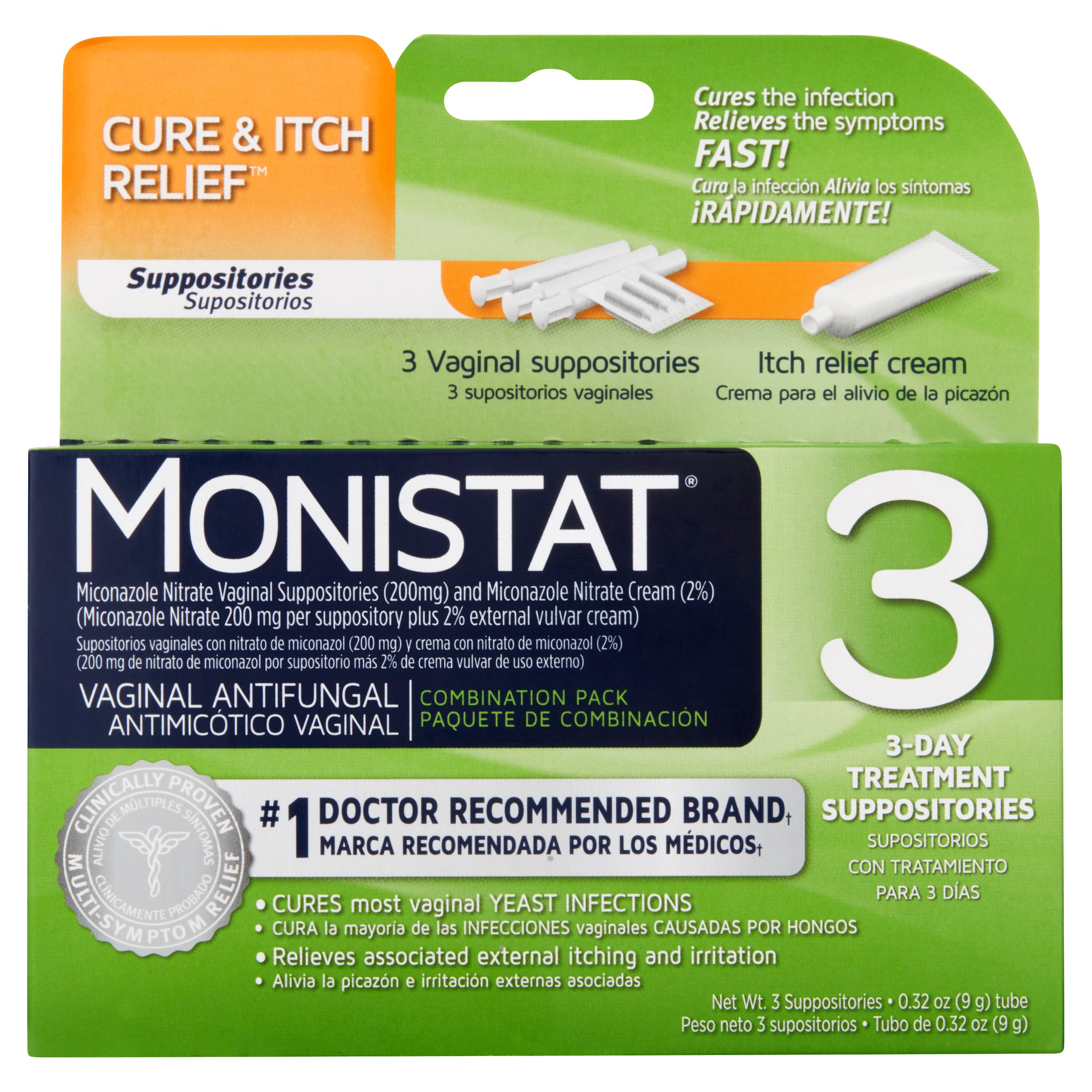Monistat Viganal Suppositories Combination Pack