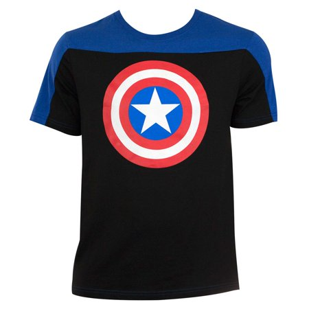Captain America Men's Two-Tone T-Shirt-Medium