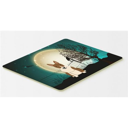 Carolines Treasures BB2327CMT Halloween Scary Bull Terrier Brindle Kitchen or Bath Mat, 20 x 30 - image 1 de 1