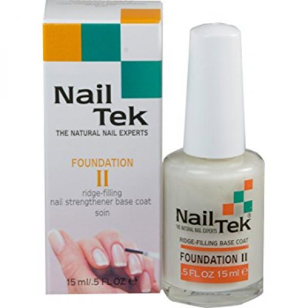 Nailtek Foundation No.2 Ridge-Filling Nail Strengthener Base Coat, 0.5 Fluid Ounce