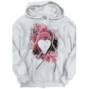 Breast Cancer Awareness Shirt Pink Ribbon Pray for Cure Gift Zipper Hoodie