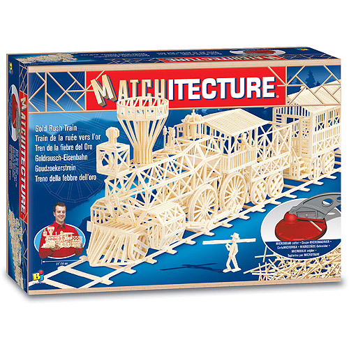 Matchitecture Gold Rush Train Building Kit