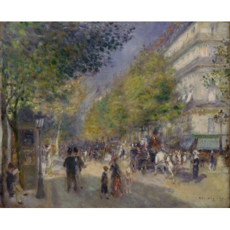 French The Grands Boulevards Poster Print by Pierre Auguste Renoir
