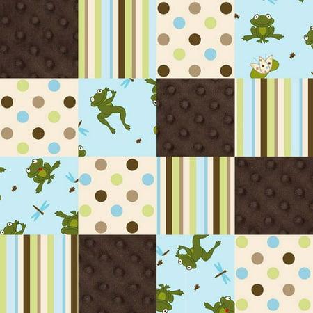 Springs creative 3d nursery flannel multi substrate frog for Baby nursery fabric yard