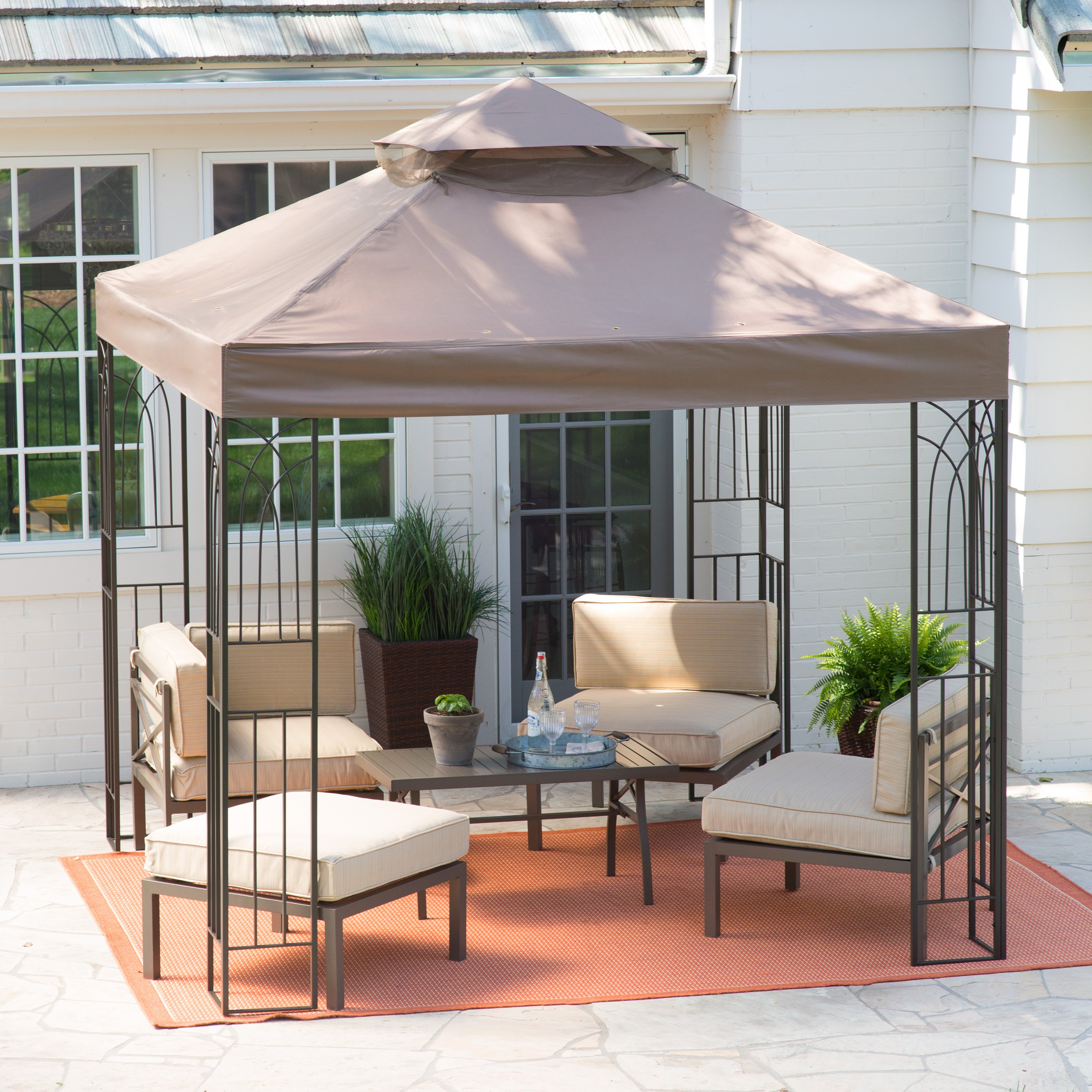 Coral Coast Prairie Grass 8 x 8 ft. Gazebo by