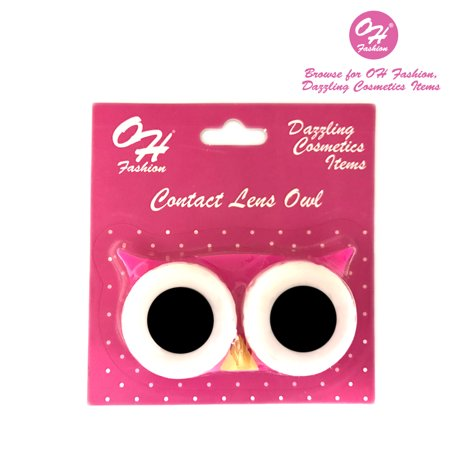 OH Fashion Contact Lens Case Owl style, Pink travel case, 1 pc, eyecare, contact lens, contact storage](Halloween Contact Lenses Stores)