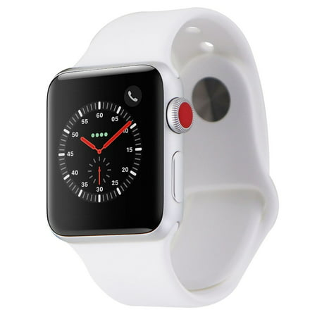 new york 9012d 39d38 Apple Watch Series 3 (38mm) A1860 Silver Aluminum Case/White Sport Band  GPS+LTE (Refurbished)