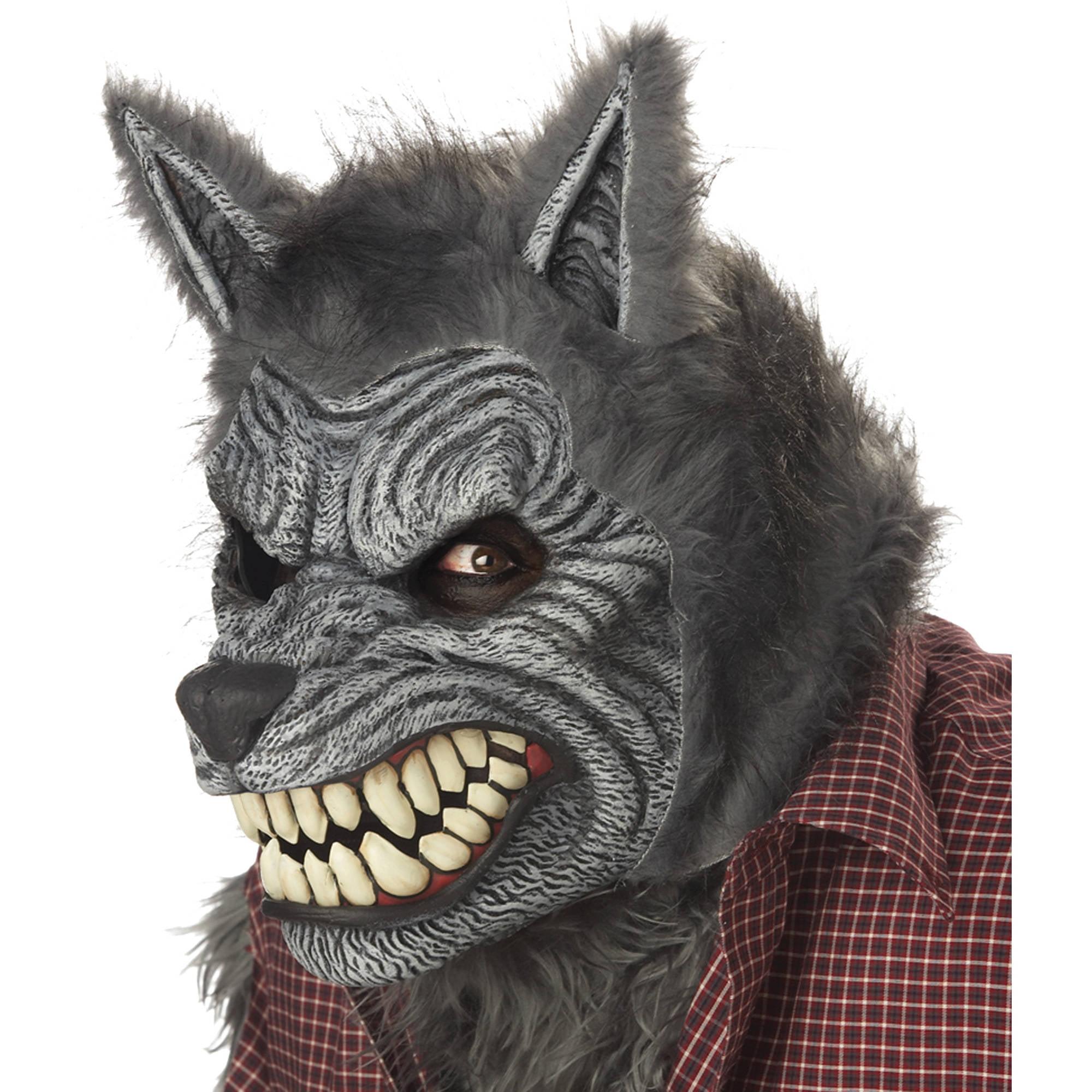 werewolf ani-motion mask adult halloween accessory - walmart
