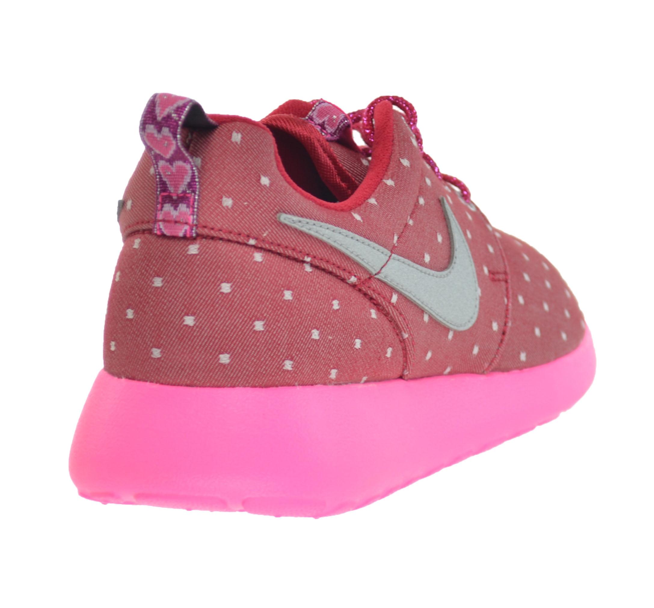 Nike 677784-606 : Kids Rosherun Print (GS) Dark Red/White Running Shoe Size 6.5
