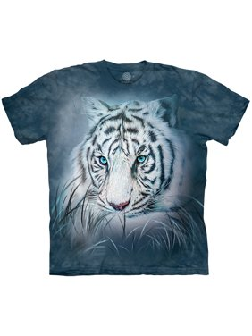 1c58d292 Product Image The Mountain THOUGHTFUL WHITE TIGER Blue Adult Unisex T-Shirt
