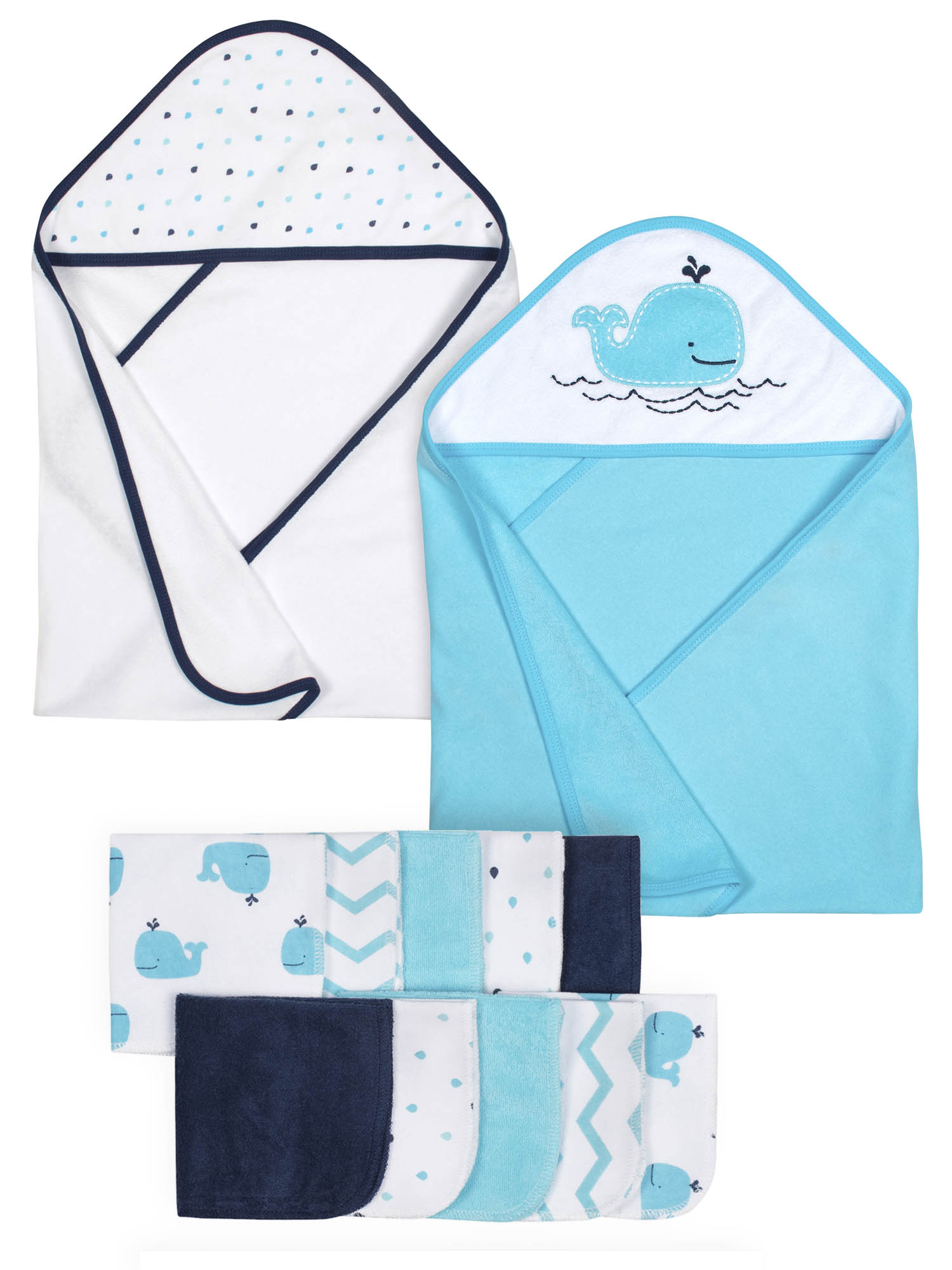 Gerber Baby Boy Hooded Towels & Washcloth Set, 12pc by Gerber