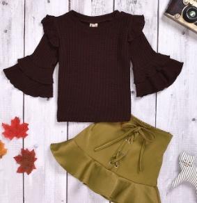Personalized Address California Cotton Toddler Long Sleeve Ruffle Shirt Top