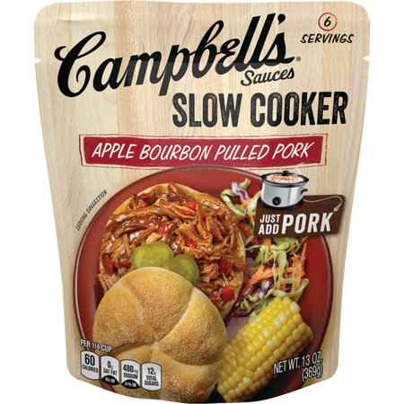 (3 Pack) Campbell's Slow Cooker Sauces Apple Bourbon Pulled Pork, 13 - Halloween Pulled Pork Recipes