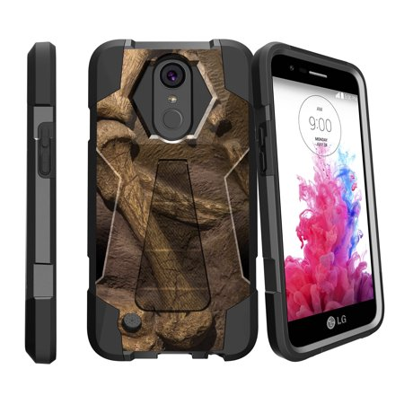 Case for LG K20 | K20 Plus | K10 2017 Version [ Shock Fusion ] Hybrid Layers and Kickstand Case Dino Collection