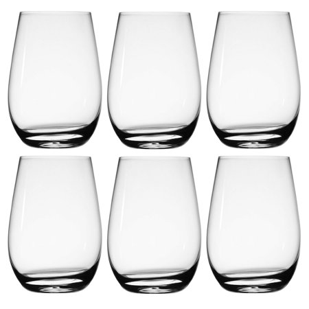 Stolzle (6 Pack) 22.25 Ounce German Crystal Wine Glasses, Stemless Wine Glasses, Red Wine Glasses For Home, Dining Table, Kitchen