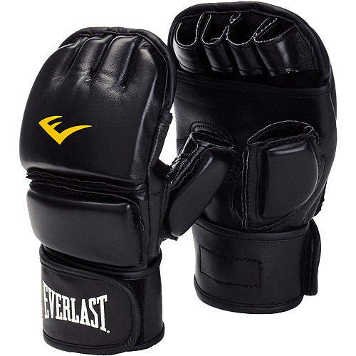 Everlast MMA Closed Thumb Grappling Glove, Black