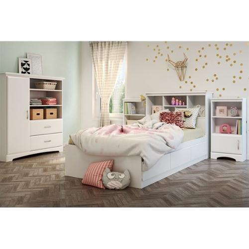 South Shore Callesto 5 Piece Bedroom Set in Pure White
