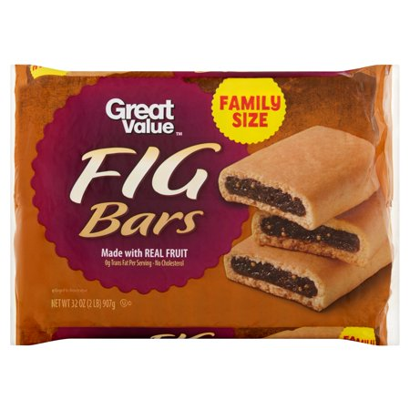 Great Value Fig Bars, Family Size, 32 oz