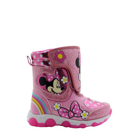 Disney Minnie Mouse Light-up Insulated Winter Snow Boot (Toddler Girls)