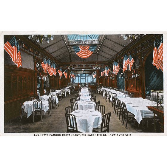 Luchows Famous Restaurant New York City Usa Poster Print By Mary Evans Pharcide