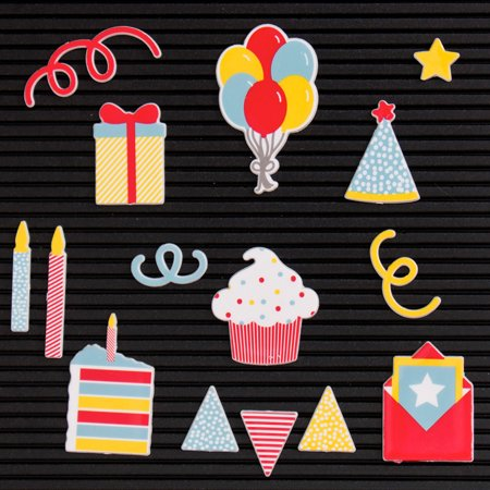 DCWV Letterboard Icons-Celebration Dcwv Scrapbooking Die Cuts