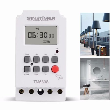 Lap Timer - 12V Large LCD Screen Digital Displaying Programmable Timer Second Control Time Switch Kitchen Lamp. Automatic Cycle Switch Time Power Controller