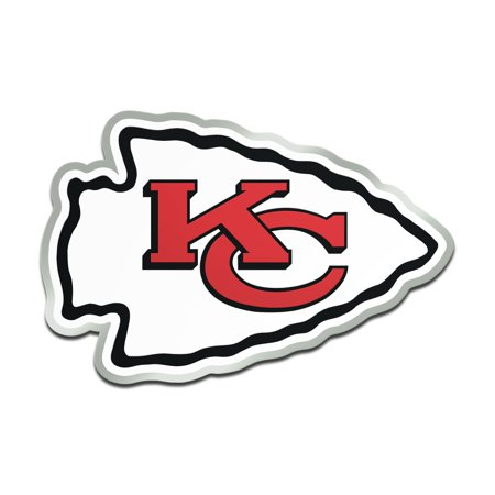 Kansas City Chiefs Metallic Freeform Logo Auto Emblem