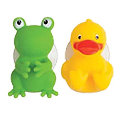Mommys Helper Toothbrush Holders, Froggie and Friend, Suction cup toothbrush holders By Mommy's Helper
