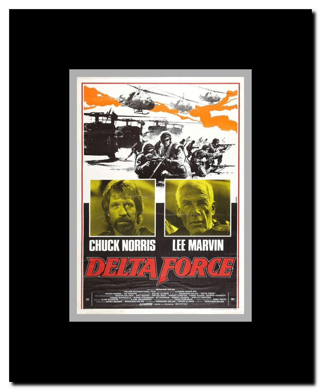 The Delta Force Framed Movie Poster Walmart Com