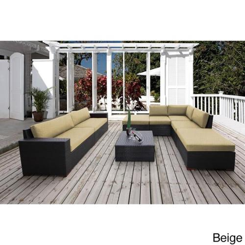 Bellini Home and Garden Andover 8-piece Sunbrella Fabric Conversation Sectional Seating