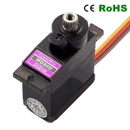 TowerPro MG90D 13g Metal Gear Digital Servo for RC Models Quadcopter Drone Helicopter Parts (Protocol Rc Helicopter Parts)