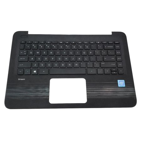L01818-001 9Z.NC9SQ.201 HP Stream 14-AX Sereis Laptop Keyboard Palmrest Assemblyy NO Touchpad Laptop Palmrest Touchpad Assembly - Used Very Good
