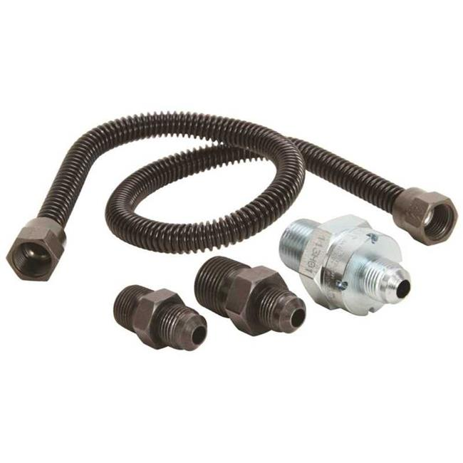 Dormont 10A-2131V2KIT-24B Gas Log & Space Heater Connector Kit with Suprsense Excess Flow Valve, Stainless Steel - 0.37 x 0.25 in. - image 1 de 1