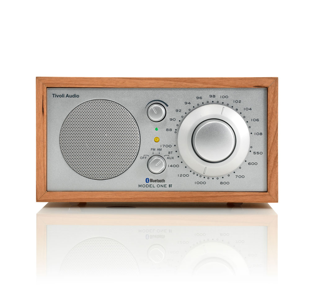Tivoli Audio Model One BT Bluetooth AM/FM Table Radio (Cherry/Silver)