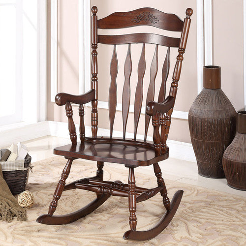 Wildon Home  Solid Wood Rocking Chair
