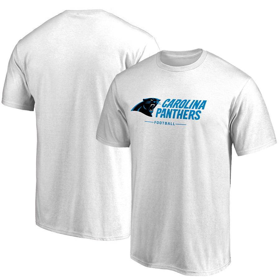 Carolina Panthers NFL Pro Line Team Lockup T-Shirt - White