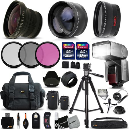Ultimate 37 Piece Accessory Kit for Canon Mark II EOS 70D 60D 60Da EOS Rebel T6 T6i T6S T5i T5 T4i T3i T3 T2i SL1 EOS M EOS M2 EOS REBEL XS XSi XT XTi Kiss X50 kiss X70 Kiss X7i Kiss X6i Kis Canon Rebel Xsi Manual